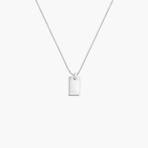 Willow Tag Necklace - Sterling Silver product photo