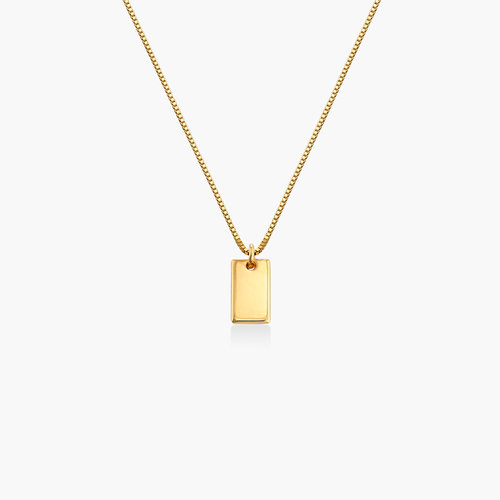 Willow Tag Necklace - Gold Plating product photo