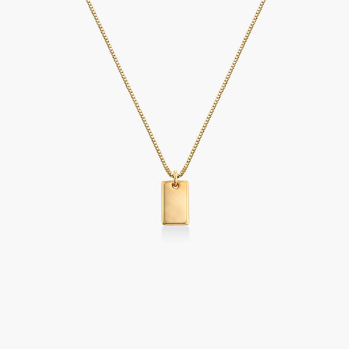 Willow Tag Necklace - Gold Vermeil product photo