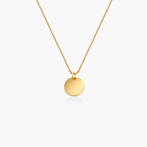 Willow Disc Necklace - Gold Plating product photo