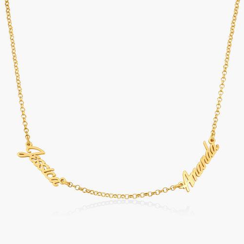 Real Love Multiple Name Necklace - Gold Vermeil product photo