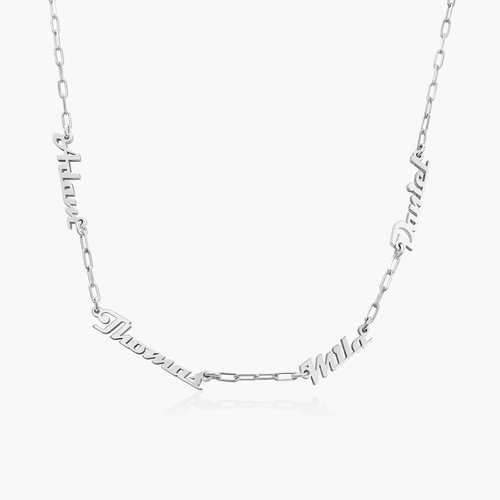 Multiple Link Name Necklace - Sterling Silver product photo