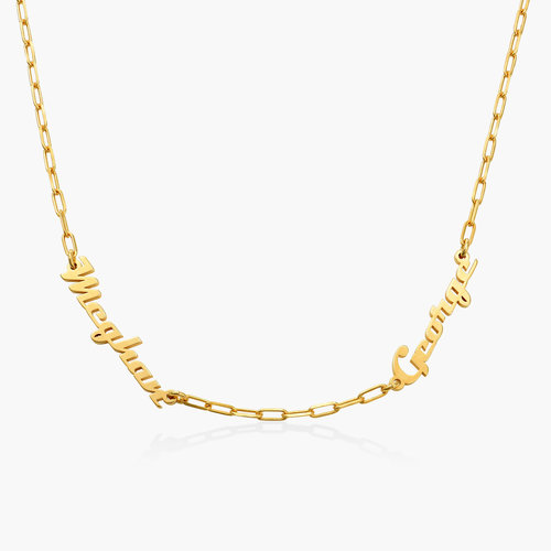 Multiple Link Name Necklace - Gold Plated product photo