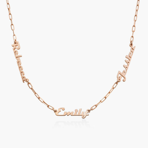 Multiple Link Name Necklace - Rose Gold Plated product photo