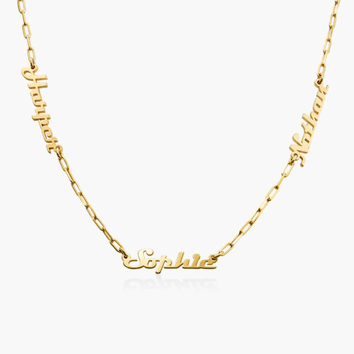 Multiple Link Name Necklace - Gold Vermeil product photo