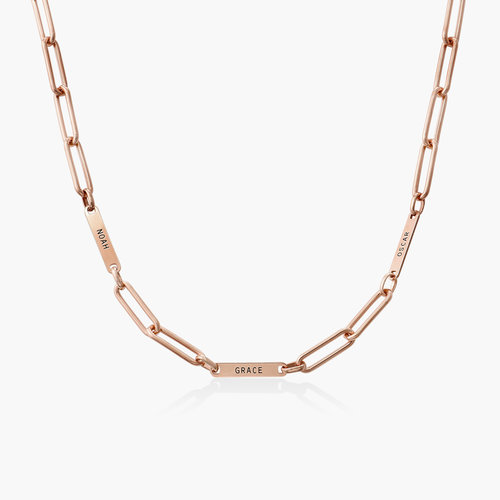 Ivy Name Link Chain Necklace - Rose Gold Plating product photo
