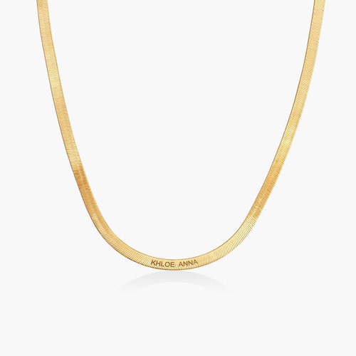 Herringbone Slim Chain Necklace - Gold Plated product photo