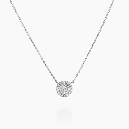 Keeya Pave Diamond Necklace - Sterling Silver product photo