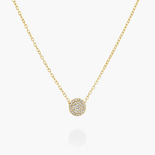 Keeya Pave Diamond Necklace - 14K Solid Gold product photo