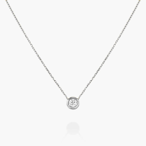 Juno Diamond Necklace - Sterling Silver product photo