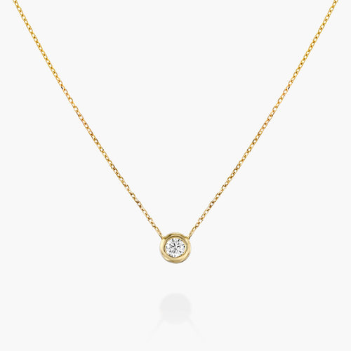Juno Diamond Necklace - Gold Plating product photo