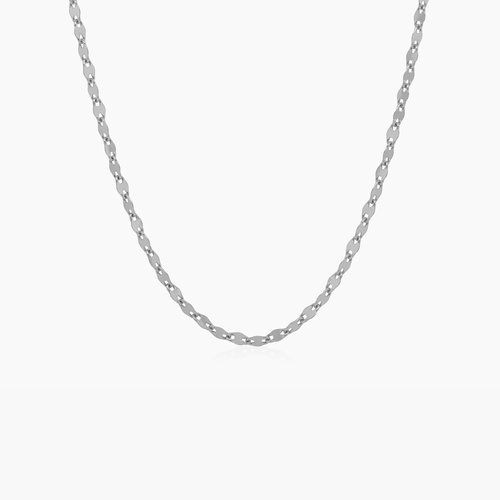 Aria Mirror Chain Necklace - Sterling Silver product photo