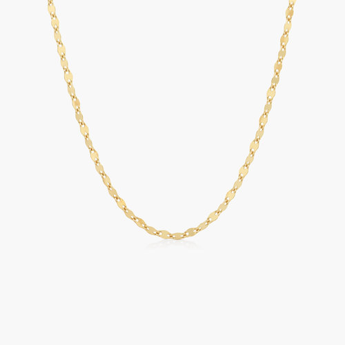 Aria Mirror Chain Necklace - Gold Vermeil product photo
