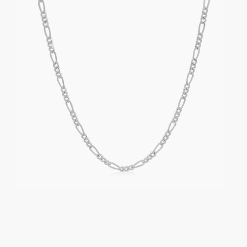 Figaro Chain Necklace - Sterling Silver product photo