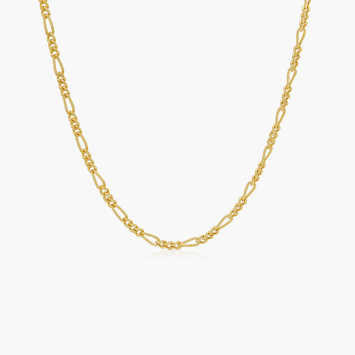 Figaro Chain Necklace - Gold Plating product photo