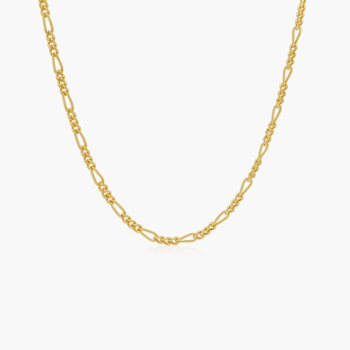 Figaro Chain Necklace - Gold Vermeil product photo
