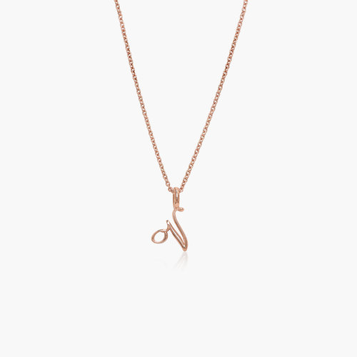 Nina Small Initial Musical Necklace - Rose Gold plated product photo