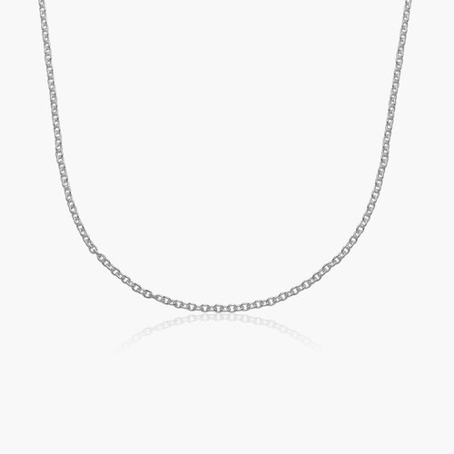 Cable Chain Necklace -Silver product photo
