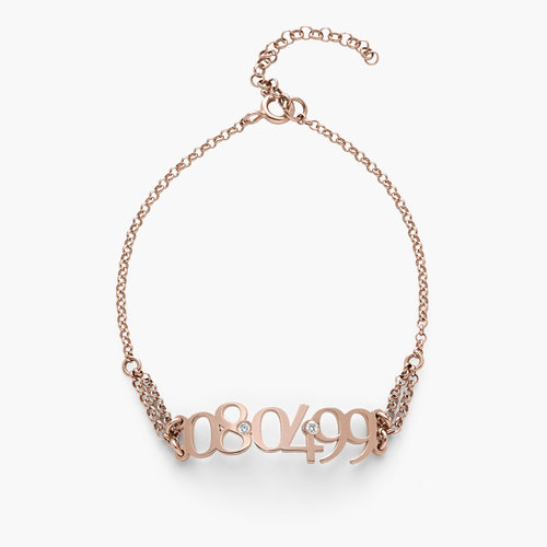 Mark the Date Bracelet - Rose Gold Plated product photo