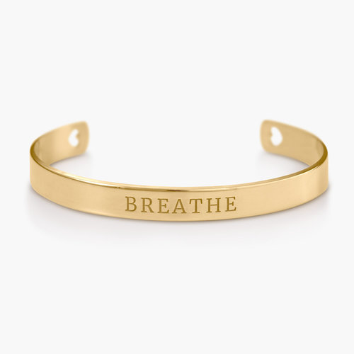 My Heart Bangle Bracelet - Gold Plated product photo