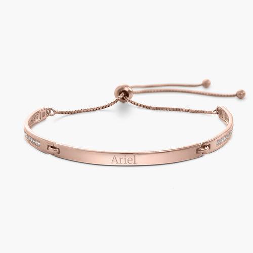 Luna Adjustable Name Bracelet - Rose Gold Plated product photo