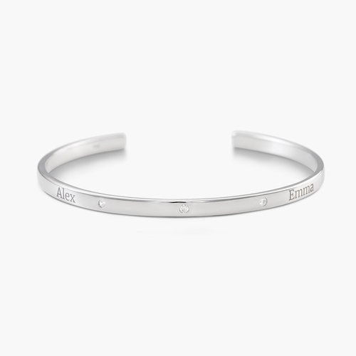 Luna 3 Stars Bangle Bracelet - Silver product photo