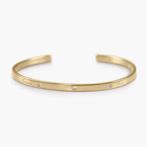 Luna 3 Stars Bangle Bracelet - Gold Plated product photo
