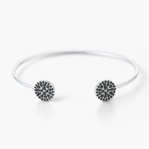 Orbit Bangle Bracelet - Silver product photo