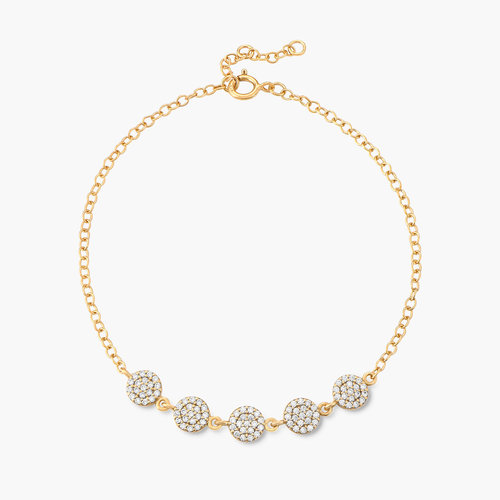 Stardust Bracelet with Cubic Zirconia - Gold Plated product photo