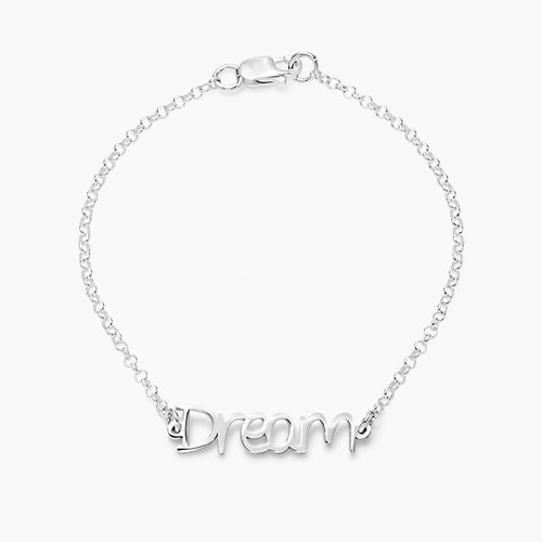 Pixie Name Bracelet - Silver product photo