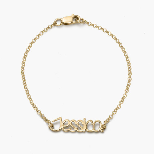 Pixie Name Bracelet - Gold Plated product photo
