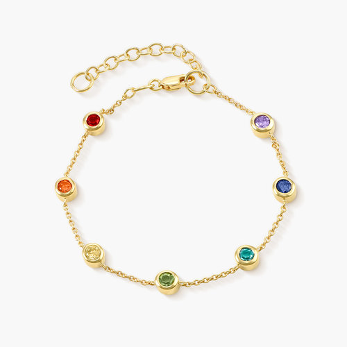 Rainbow Bracelet - Gold Plated product photo