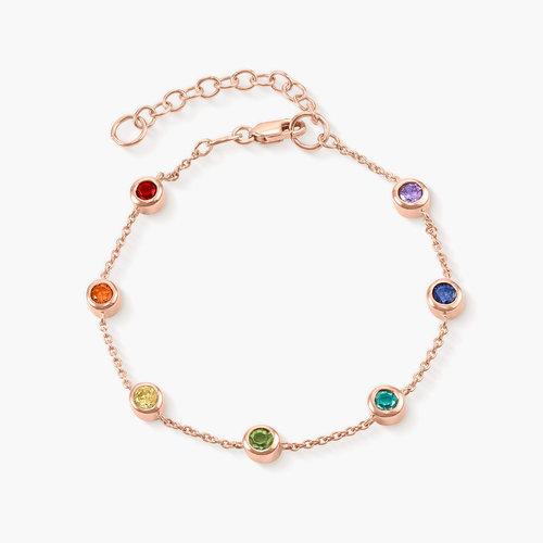Rainbow Bracelet - Rose Gold Plated product photo