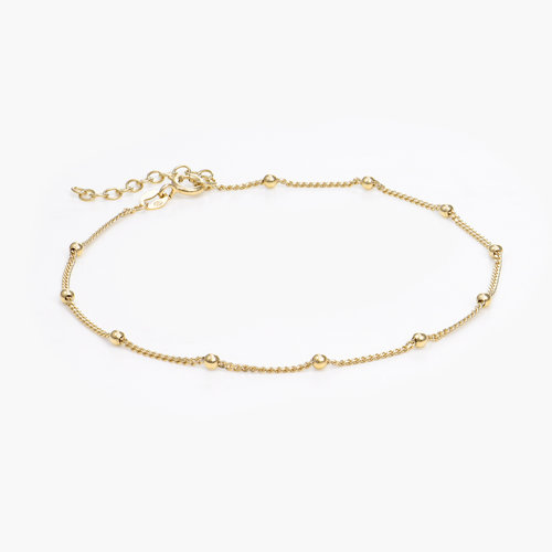 Bobble Chain Anklet/Bracelet- Gold Plated product photo