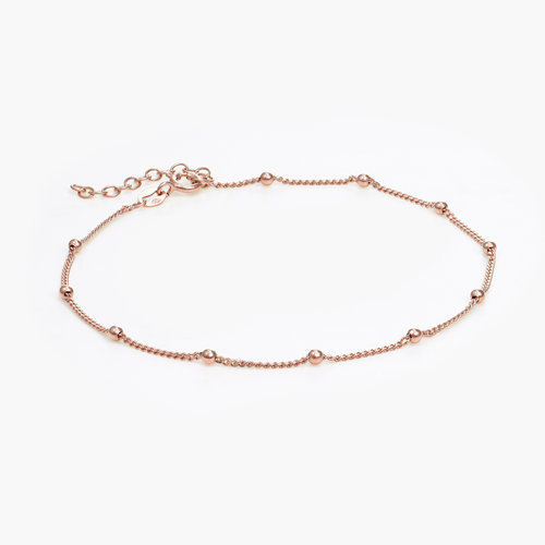Bobble Chain Anklet/Bracelet- Rose Gold Plated product photo