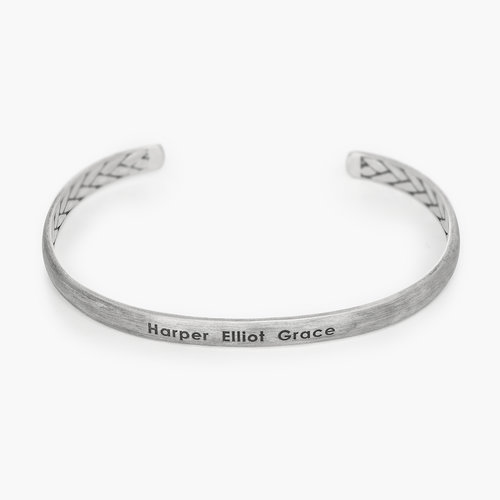 Moonlit Inside Out Streamline Cuff - Silver product photo