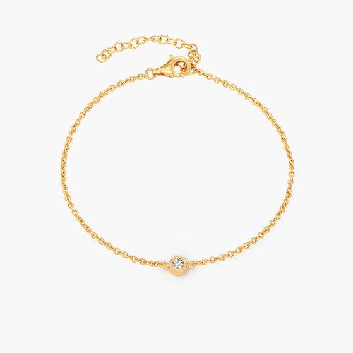Luna Single Diamond Bracelet - 14k Gold product photo