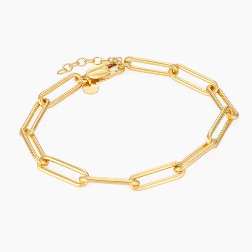 Big Paperclip Bracelet - Gold Vermeil product photo