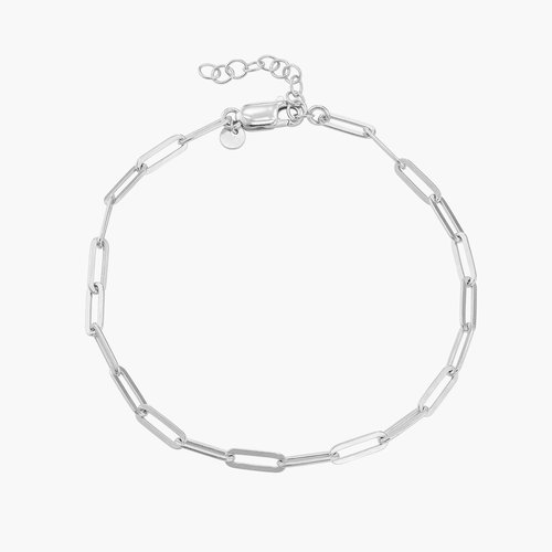 The Showstopper Link Bracelet/Anklet - Sterling Silver product photo