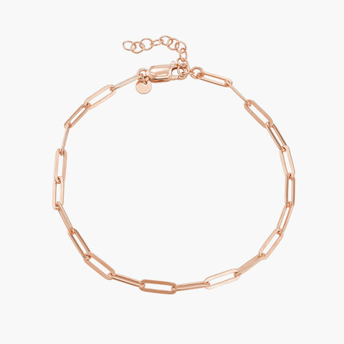 The Showstopper Link Bracelet - Rose Gold Plated product photo
