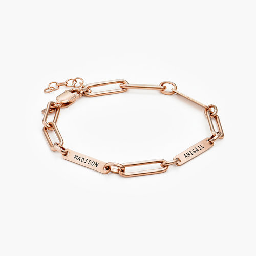 Ivy Name Link Chain Bracelet - Rose Gold Plating product photo