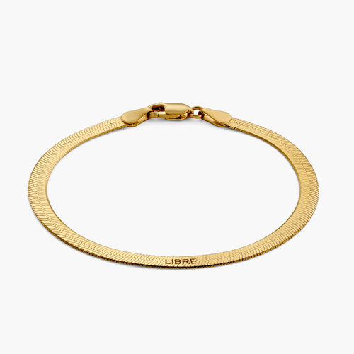 Herringbone Bracelet - Gold Plated product photo