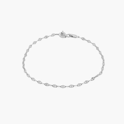 Margo Mirror Chain Bracelet/Anklet - Sterling Silver product photo