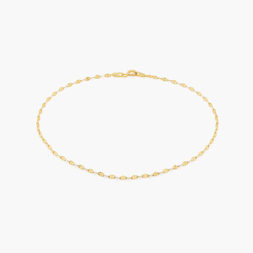 Margo Mirror Chain Bracelet/Anklet - Gold plated product photo