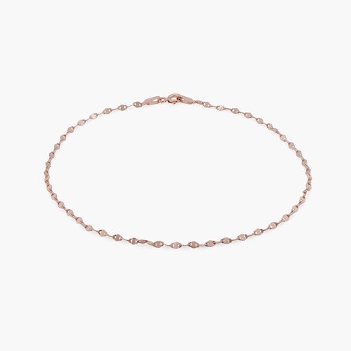 Margo Mirror Chain Bracelet/Anklet - Rose Gold Plating product photo