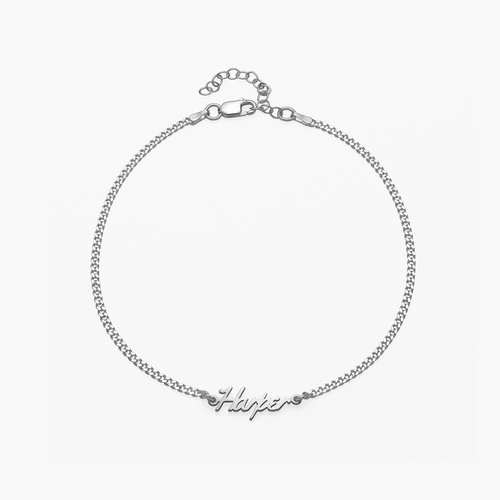 Allora Name Ankle Bracelet - Sterling Silver product photo