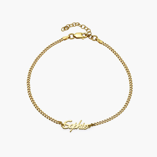 Allora Name Ankle Bracelet - Gold Plating product photo
