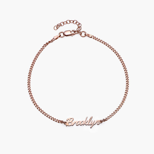 Allora Name Ankle Bracelet - Rose Gold Plating product photo
