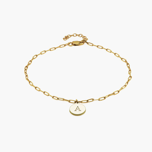 Lilian Initial Anklet Chain - Gold Plating product photo