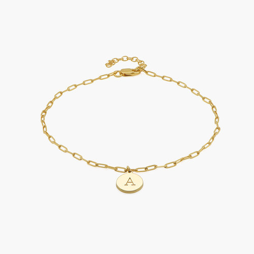 Lilian Initial Anklet Chain - Gold Vermeil product photo